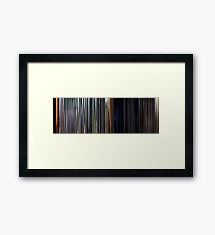 Moviebarcode: The Texas Chain Saw Massacre (1974) Framed Print