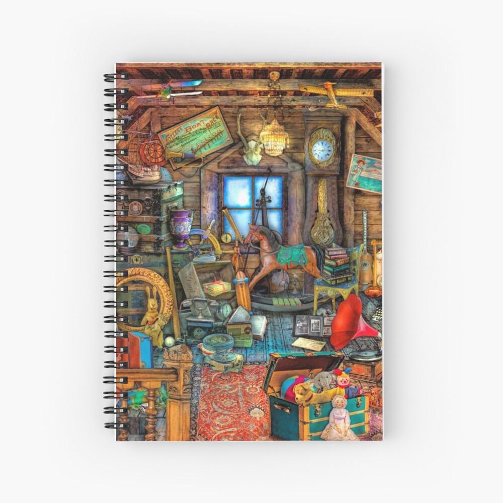 Grandma's Attic Spiral Notebook