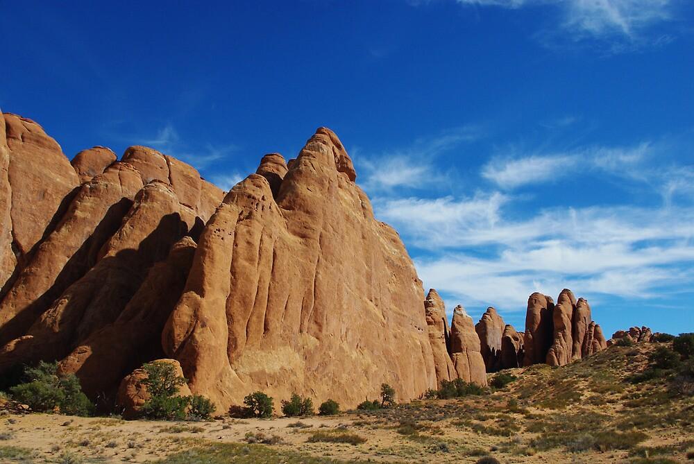 Rock walls, Utah by Claudio Del Luongo