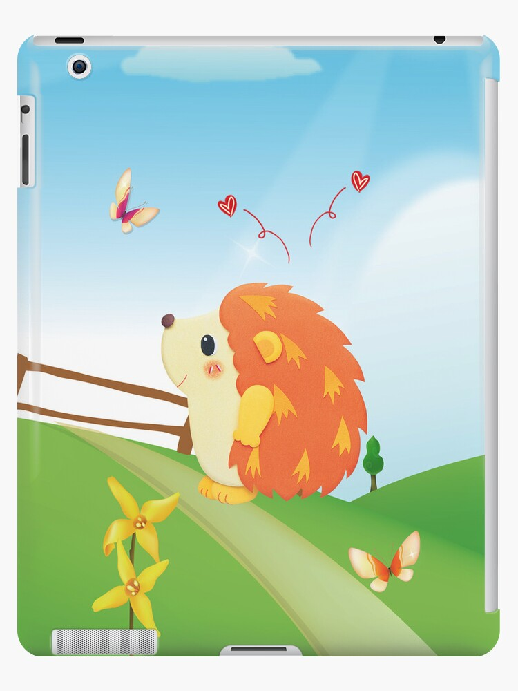 Cute Love Hedgehog with Butterfly Sunny Day by scottorz