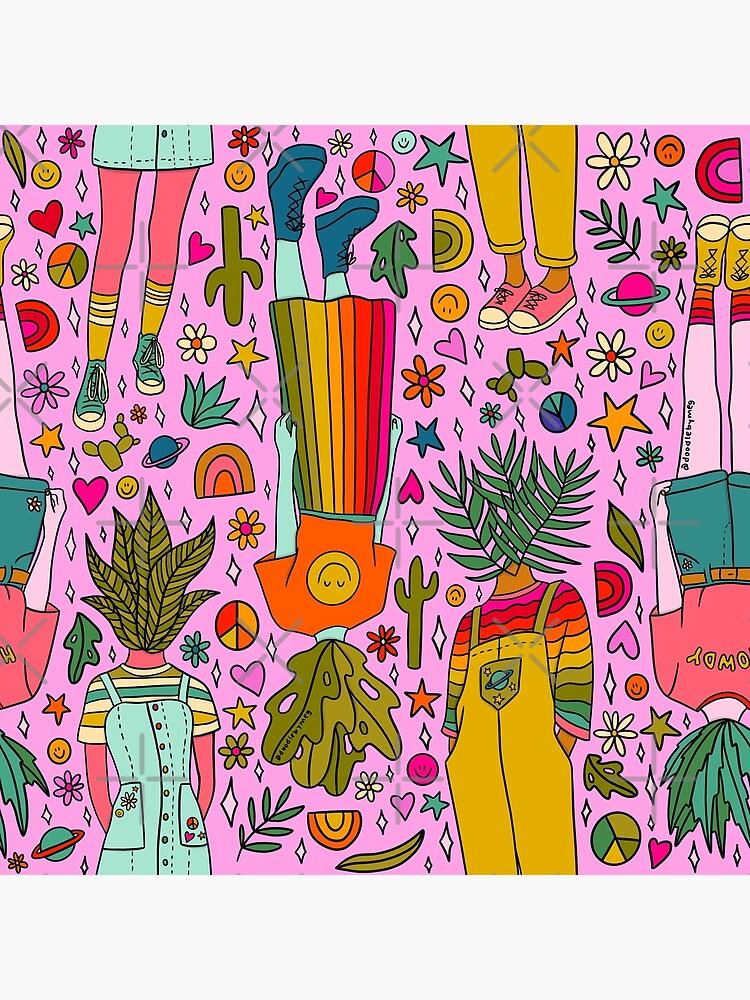 Plant Girls Print by doodlebymeg