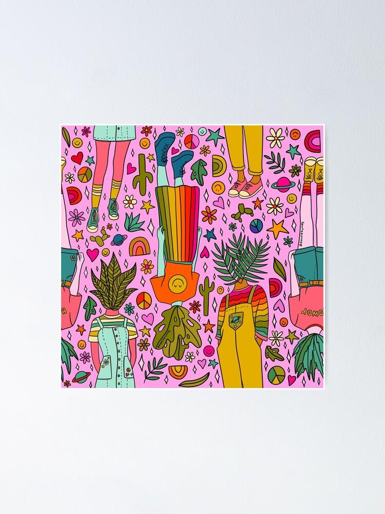 Alternate view of Plant Girls Print Poster