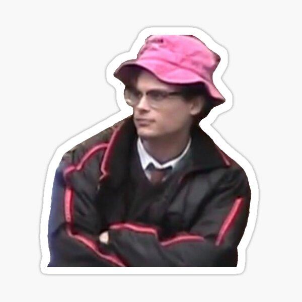 Matthew Gray Gubler in a bucket hat Sticker
