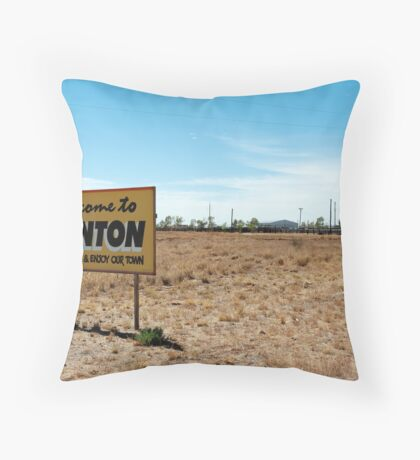 welcome to winton Throw Pillow