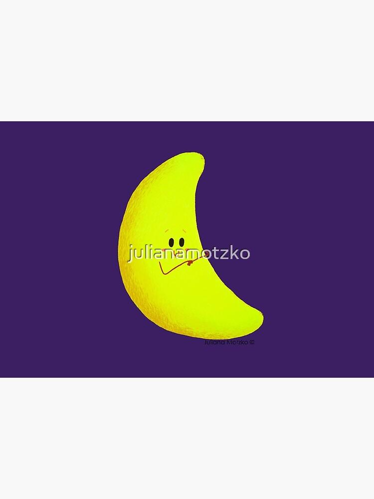 Cute Crescent Moon by julianamotzko