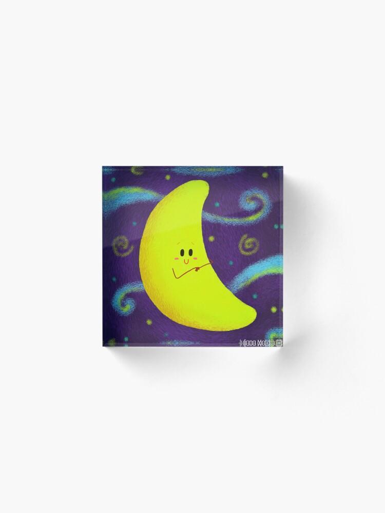 Alternate view of Cute Crescent Moon Acrylic Block