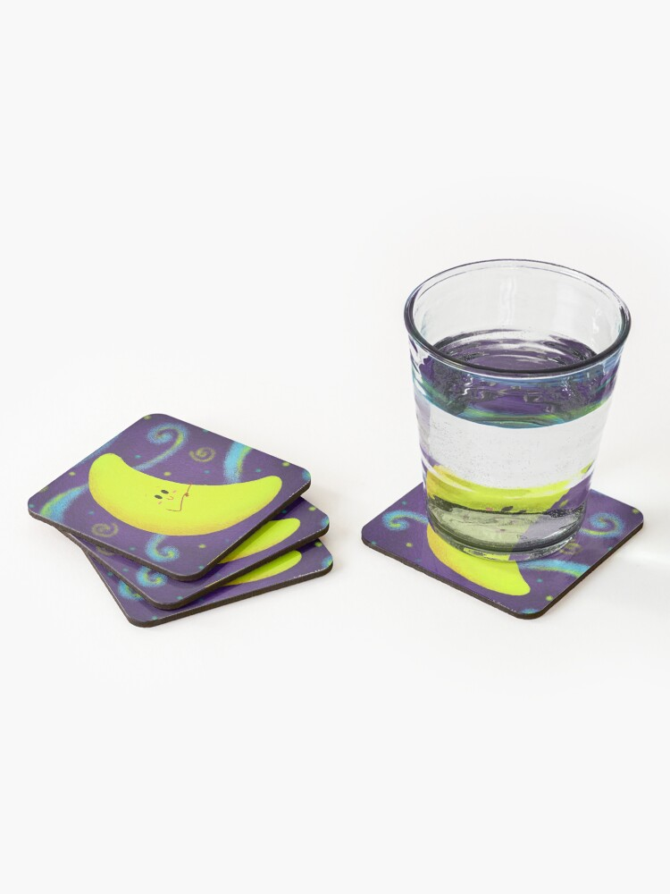 Alternate view of Cute Crescent Moon Coasters (Set of 4)