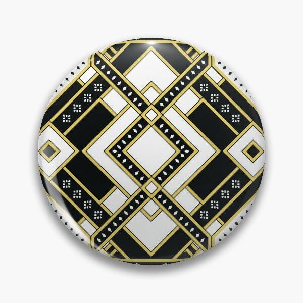Art Deco Geo Design in Black and White Pin