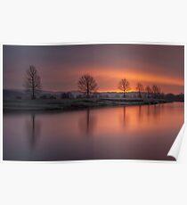Sunrise Over The River Eden Poster