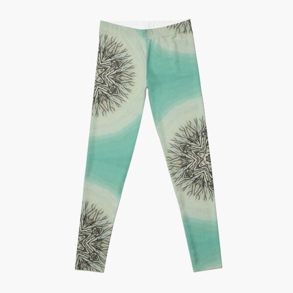 Green Snowflake Leggings