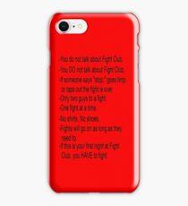 Fight Club Rules iPhone Case iPhone Case/Skin