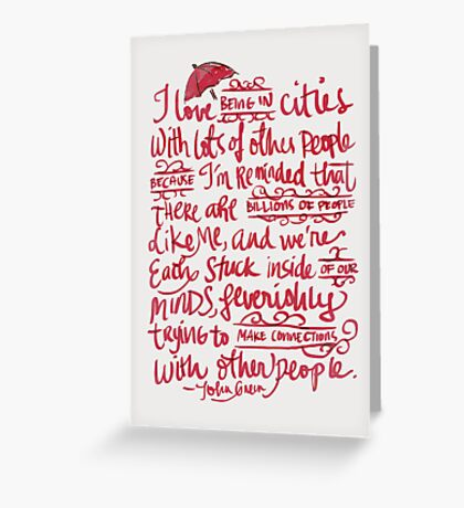 Being In Cities Greeting Card