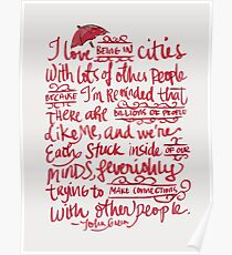 Being In Cities Poster