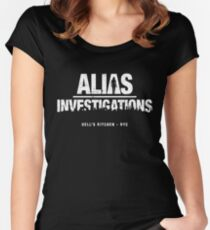 Alias Investigations (aged look) Women's Fitted Scoop T-Shirt
