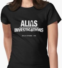 Alias Investigations (aged look) Womens Fitted T-Shirt