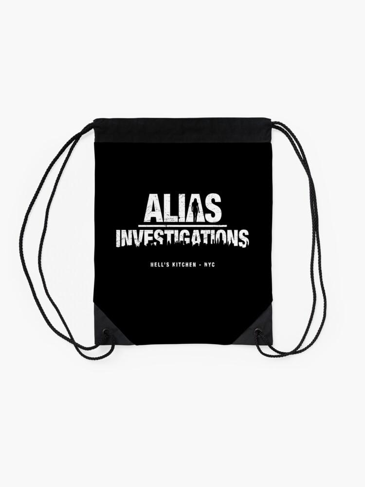 Alternate view of Alias Investigations (aged look) Drawstring Bag