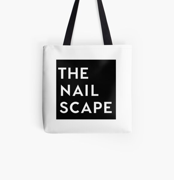 The Nailscape Square Wordmark All Over Print Tote Bag