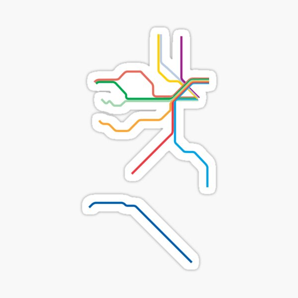 New Jersey Transit Rail Map Sticker