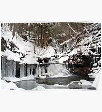 December Icicles Transform Ozone Falls Poster