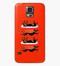 Zoomin' Snoozin' Galaxy (red) Case/Skin for Samsung Galaxy