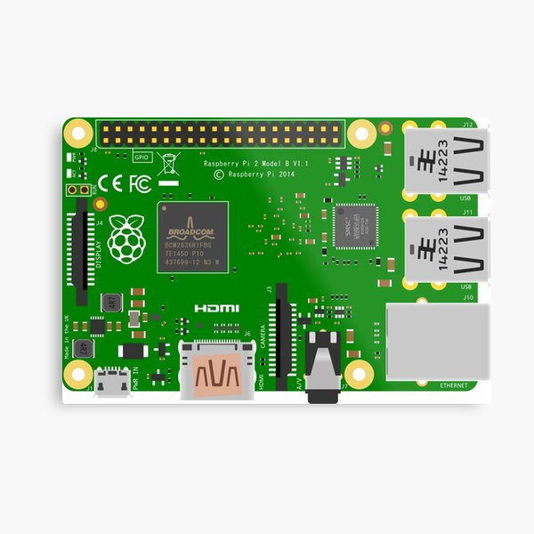 Raspberry Pi 2 B Metal Print