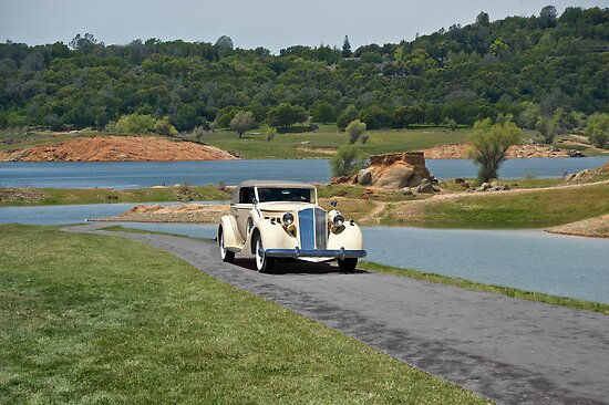 1935 Packard Victoria Convertible Coupe by DaveKoontz