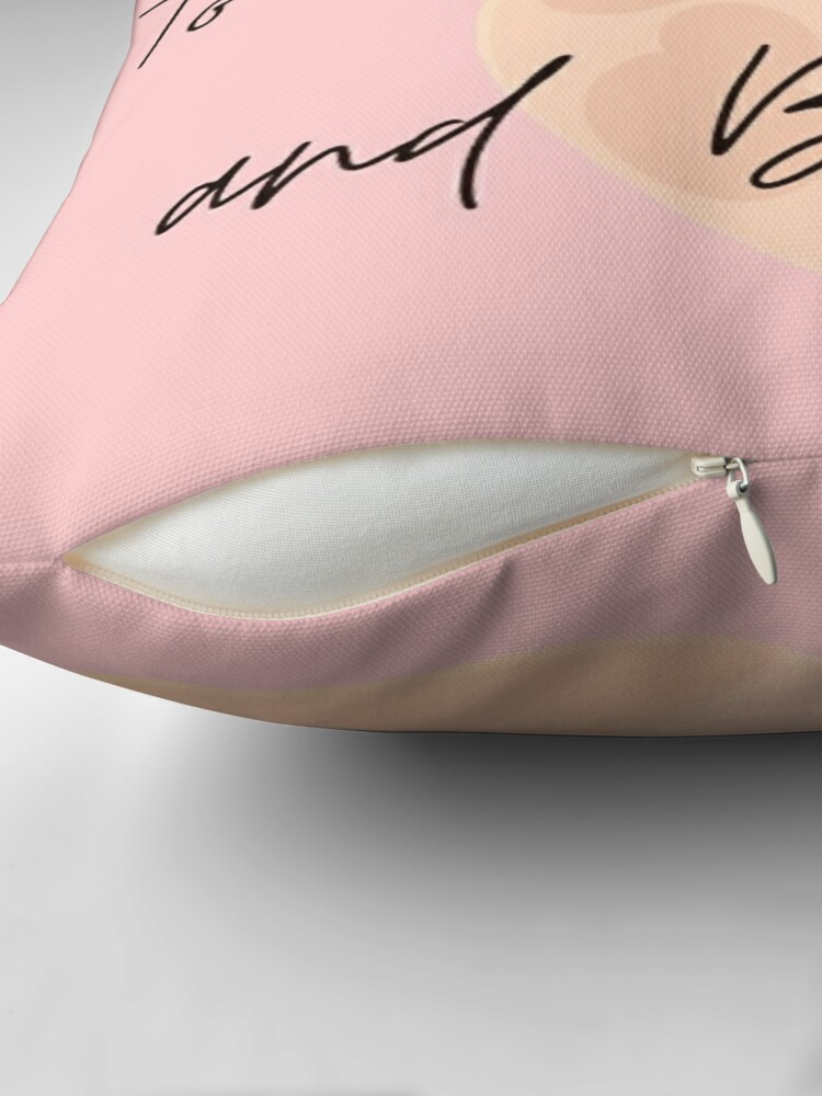 Alternate view of I love you... to the moon and back Throw Pillow