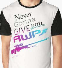 Counter-Strike    Never Gonna Give You AWP Graphic T-Shirt