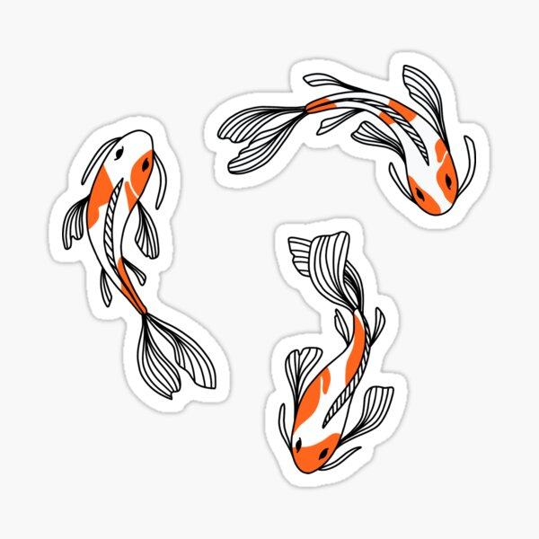 Koi Fisch Sticker Pack Sticker