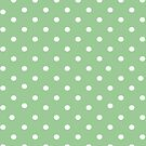 Pale green polkadot ipad case by PixelRider