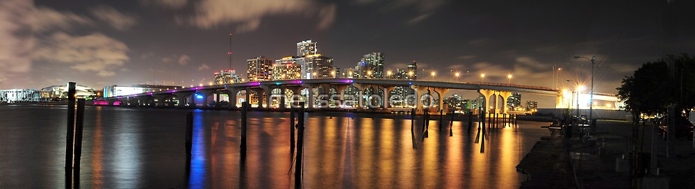 High Resolution - Miami Skyline by melissatoledo