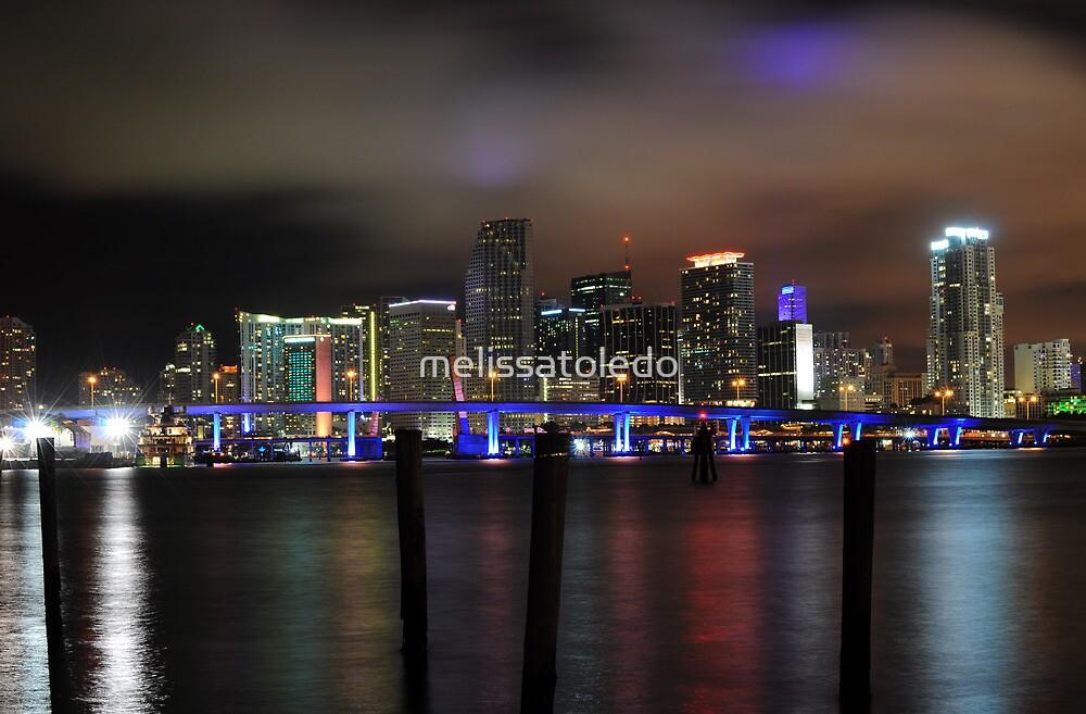 Miami Skyline and Port Boulevard Bridge - High Resolution by melissatoledo