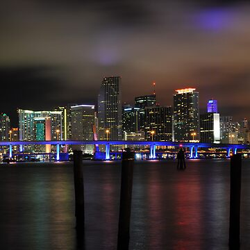 Miami Skyline and Port Boulevard Bridge - High Resolution by melissatoledo