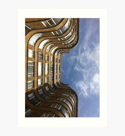 Art Deco sky Art Print
