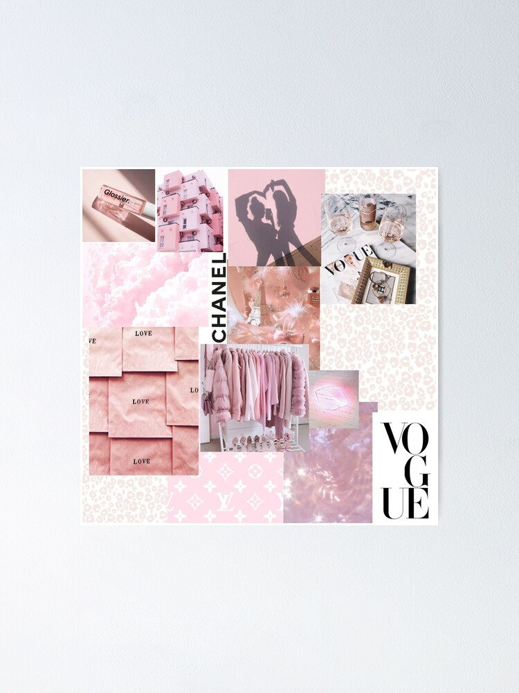 Light Pink Aesthetic Poster By Nicolevanduzee Redbubble