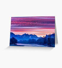 Skykomish River Sunrise Greeting Card