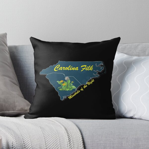 Carolina Filk for dark colors Throw Pillow