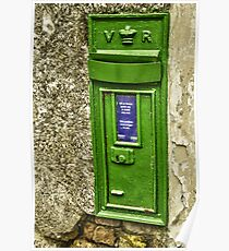 Old postbox. Poster