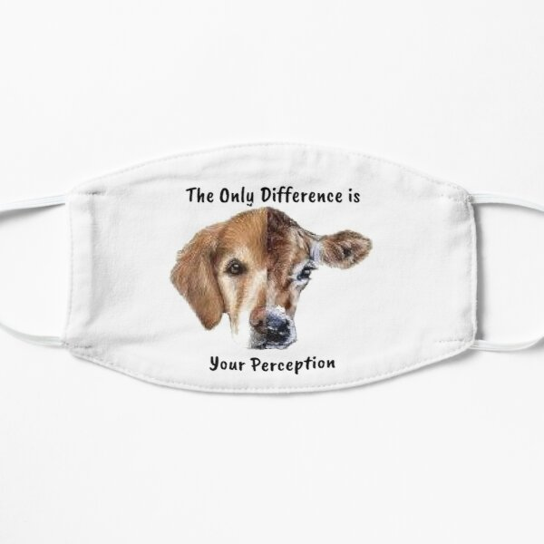 animal lover and vegan quote  Friends not Food - the only difference is indifference and it breaks my heart. go vegan for the love of animals Flat Mask