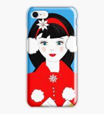 Pretty Christmas Carol Singer iPhone Case/Skin