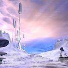 Frozen Alien Landscape by algoldesigns