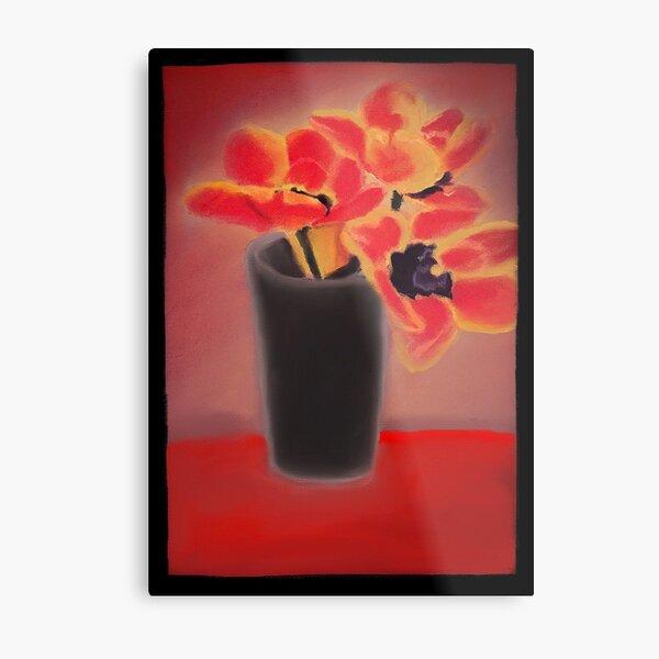 Red and Orange Flowers Metal Print