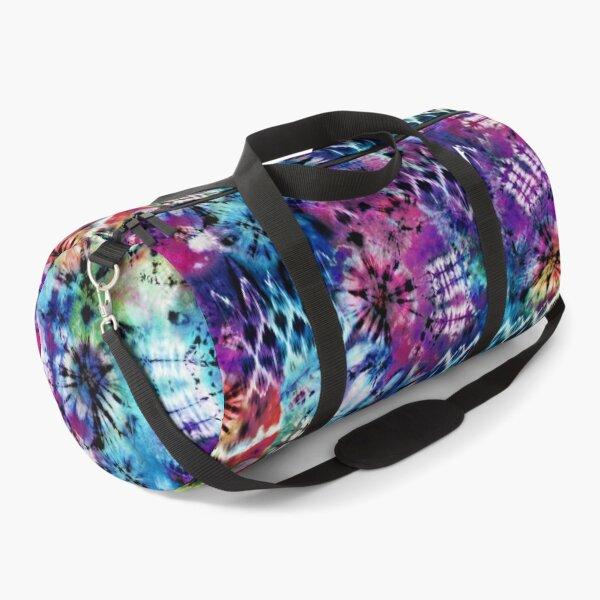 Rainbow signal tie dye Duffle Bag