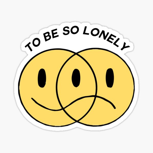 "Autocollant smiley ""To Be So Lonely"" de Harry Styles Sticker"