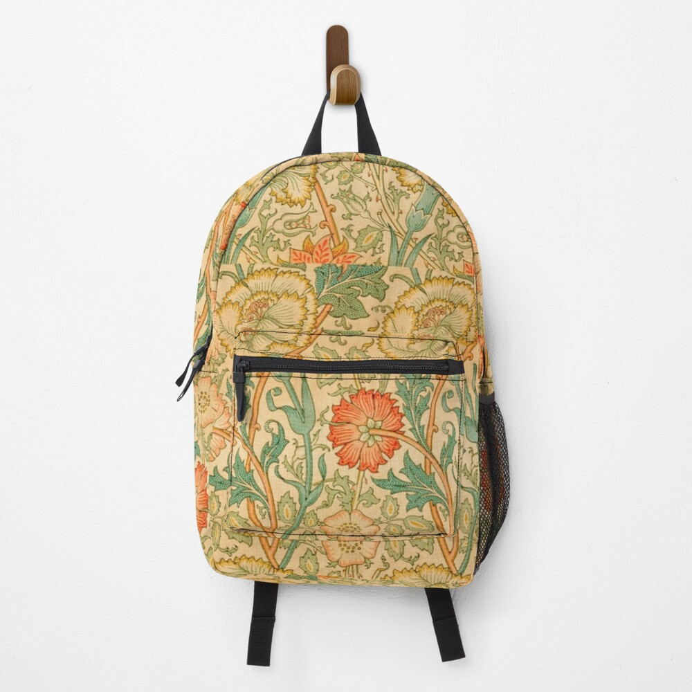 Pink and Rose by William Morris, 1890 Backpack