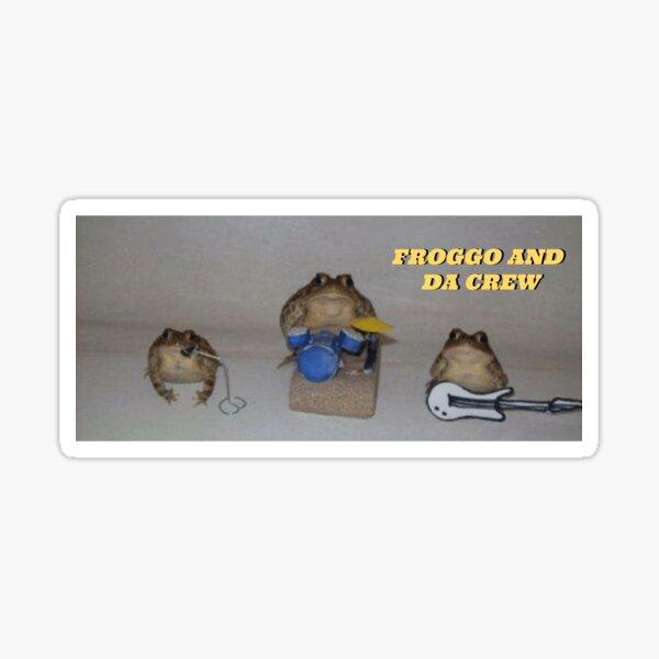 Froggo and da Crew Frog Band Meme Sticker
