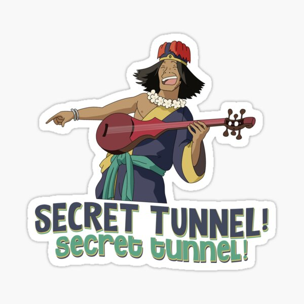 SECRET TUNNEL! SECRET TUNNEL! WITH CHONG FROM AVATAR Glossy Sticker