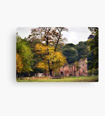Ruins In The Park, Leicestershire, UK Canvas Print