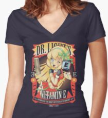 Vitamin E Women's Fitted V-Neck T-Shirt