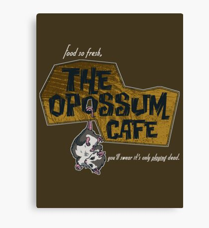 The Opossum Cafe Canvas Print